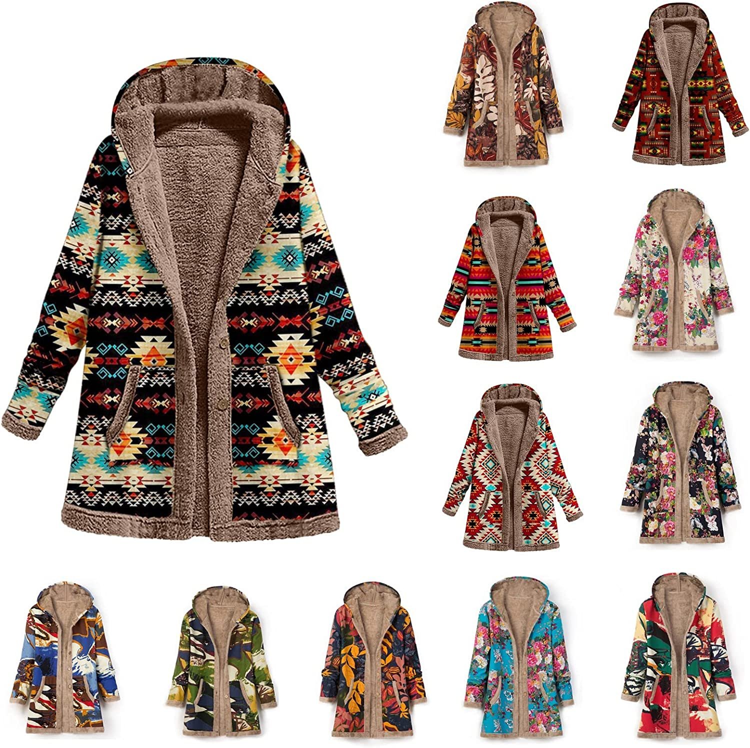 50% Off Coupon – Vintage Fleece Lined Plus Size Hooded Overcoat