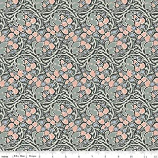 Liberty Quilting: Hesketh House Collection - Dianthus Dreams in Pink Green - Sold by The Yard - Lasenby Cotton
