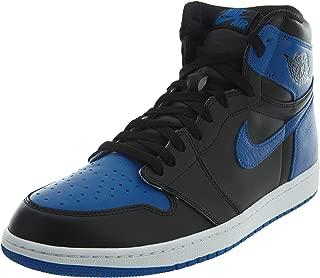 Men's Air Jordan AJ 1 High Top Shoe, Royal Blue/Black/White, 9 D(M) US