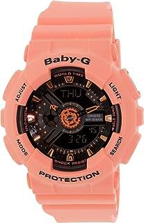Casio Baby G Women BA111-4A2 Year-Round Analog-Digital Automatic Orange Watch