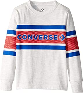 Converse Kids Boy's Two-Tone Graphic Striped Long Sleeve Tee (Little Kids)