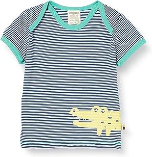 Loud + Proud Striped T-Shirt with Print Organic Cotton Garçon
