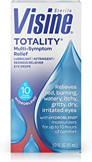 Visine, Multi-Symptom Relief Eye Drops Totality, Lubricant & Astringent Redness Reliever, 0.5 oz (342002209051)