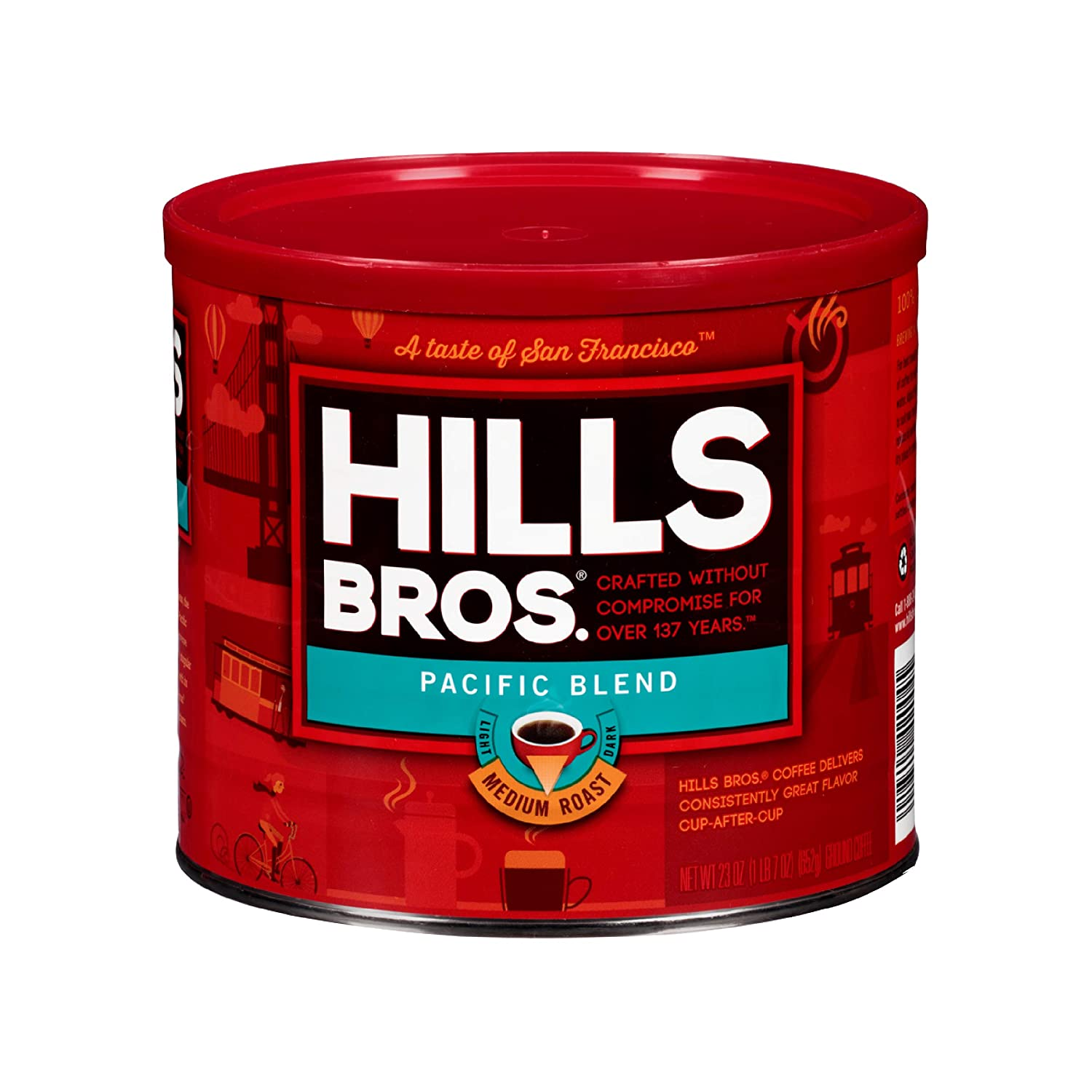 Recommendation Hills Bros Pacific Deluxe Blend Ground Medium 23 Coffee Roast