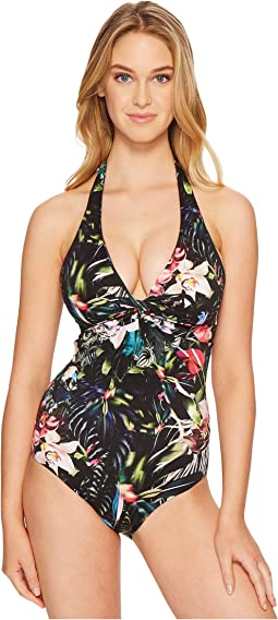 JETS by Jessika Allen - Arcadia D/DD Cup Halter One-Piece Swimsuit