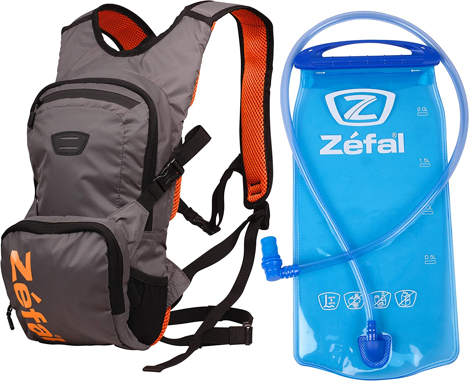 Zefal Z-Hydro XC Large discharge sale Hydration 6L Backpack Boston Mall Orange Grey