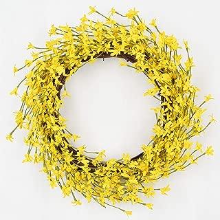 Lvydec Artificial Forsythia Flower Wreath - 16
