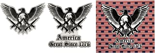 3 Pack Patriotic America Car Decal Stickers - Murica Stickers - America Great Since 1776