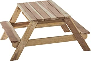 Jack & June Redwood Convertible Sand Box and Picnic Table Playset