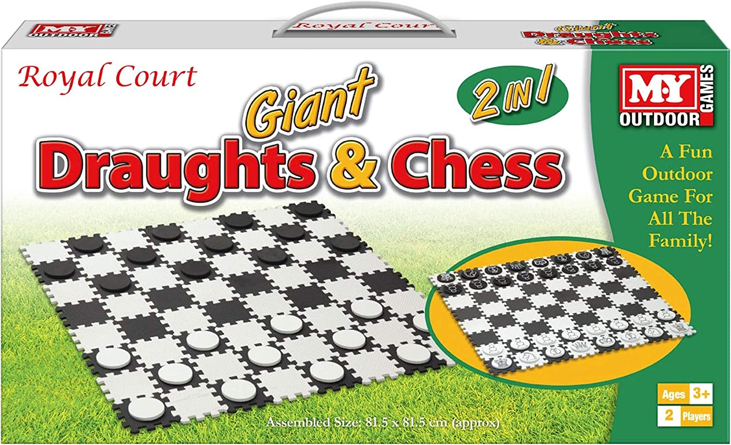 Giant 新作送料無料 Draughts 新作 大人気 Chess 2-in-1 Game Colour M.Y in Box