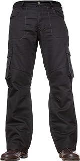 Enzo Mens Cargo Combat Jeans Trousers Casual Work Denim Pants All Waist Sizes (32W / 30L, Black)