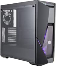 Cooler Master MasterBox K500 ATX Mid Tower w/Front Semi-Meshed Ventilation, Tempered Glass Side Panel, Front RGB Strips & 2X 120mm RGB Fans