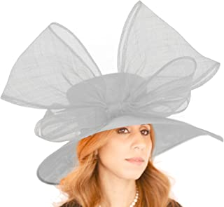 Hats By Cressida Gorgeous Crossbill Sinamay Bow Ascot Derby Wedding Hat - Available in 40 Colours