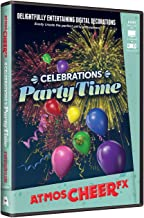AtmosFX Celebrations Party Time Digital Decorations,Multi-colored,One Size