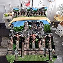 3D Parure de lit Set de Housse de Couette en 3D Imprimé Housse Couette et Taie-Abbaye de Furness-Très Grand (220x240cm) Ex...