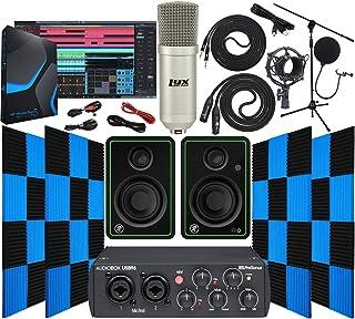 Presonus AudioBox 96 USB 2.0 Audio Interface with Mackie CR3-X BT Pair Studio Bluetooth Monitors 24 Pack Acoustic Soundproof Studio Foam Wedges Sound Insulation Panels