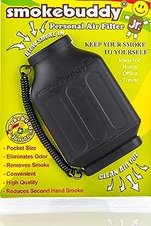 【国内正規品】煙も臭いも消し去る 【Smoke Buddy】 スモークバディー 携帯用 エアフレッシュナー 黒 白 赤 黄 緑 5色 Vapor ヴェポライザー タバコ消臭 150回以上使用可能 (ブラック)