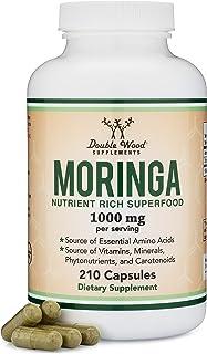 Moringa Powder Capsules - Organic and Vegan (210 Count, 1,000mg Per Serving) Amazing Green Superfood from Moringa Oleifera...