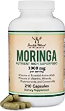 Moringa Powder Capsules - Organic and Vegan (210 Count, 1,000mg Per Serving) Amazing Green Superfood from Moringa Oleifera Leaf by Double Wood Supplements