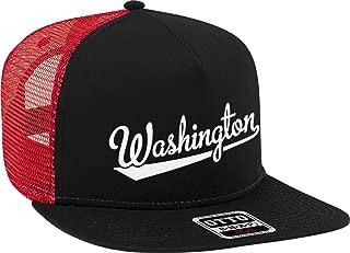 NOFO Clothing Co Washington Script Baseball Font Snapback Trucker Hat