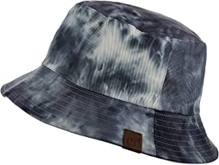 Unisex 100% Cotton Packable Reversible Tie Dye Bucket Sun Hat