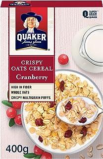 Quaker Crispy Oats Cereal, Cranberry, 400g