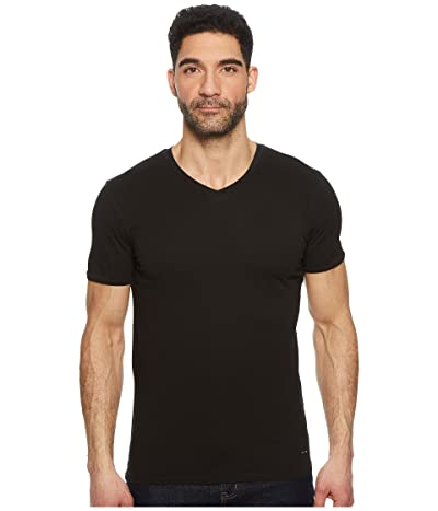 BOSS Hugo Boss Trace V-Neck Tee (Black) Men