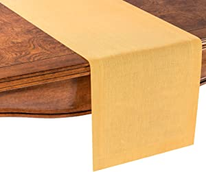 PROVIMO HOME Hemmed Table Runners (14 x 72 Inch, Yellow)