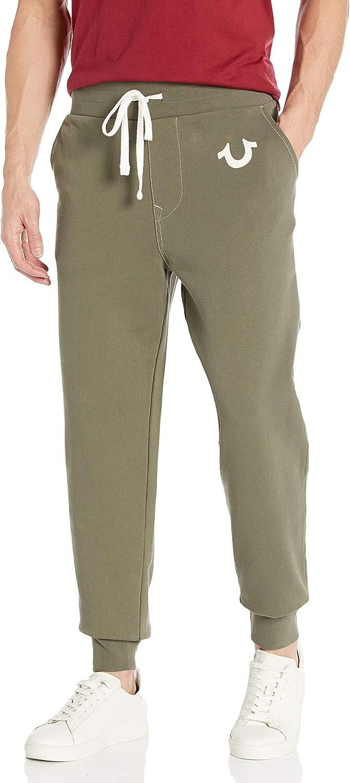 True Religion Men S Classic Logo Slim Fit Jogger Sweatpant At Amazon Men S Clothing Store