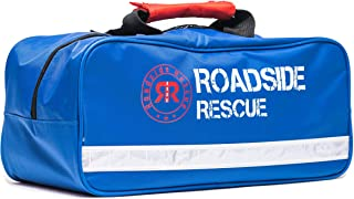 Roadside Emergency Assistance Kit - Packed 110 Premium Pieces & Rugged Bag - Car, Truck & RV Kit with Heavy Duty Jumper Cables • Heavy Duty Tow Strap • Safety Triangle • First Aid & more