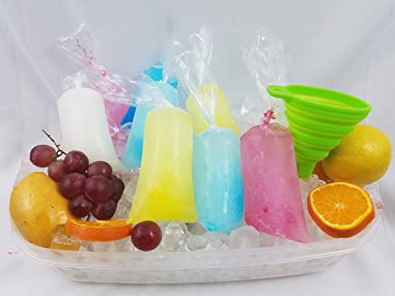 3x10 200 pcs Ice Pop Bags bpa Free /1 Free Funnel and Multipurpose Use/