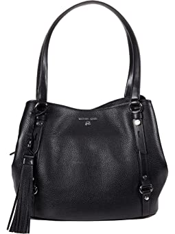 마이클 마이클 코어스 Michael Michael Kors Carrie Large Shoulder Tote,Black