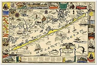 long beach island map poster
