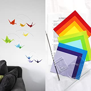 Origami Paper Crane Mobile Making Kit, Rainbow Mobile Kit, DIY Mobile, Do It Yourself Craft Kit, Rainbow Paper Crane Mobile, Make a Mobile, DIY Origami Kit