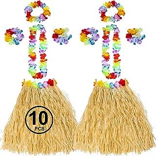 Luau Party Supplies - Coconut Cups - Flower Leis - Tiki Party - Hawaiian Costume - Hawaiian Party Decorations