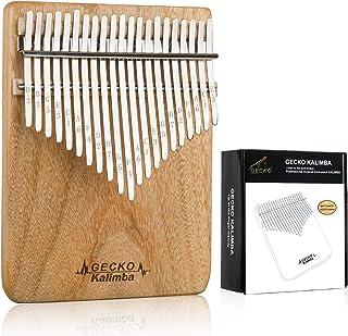 Gecko Kalimba Portable Thumb Piano camphor wood Handmade Mbi