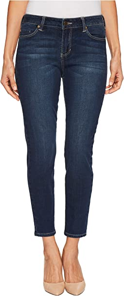 "Petite Piper ""Hugger"" Ankle Skinny with Shaping and Slimming Four-Way Stretch Denim in Lynx Wash"