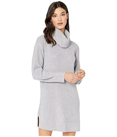 Cupcakes and Cashmere Kiara Turtleneck Sweater Dress (Heather Grey) Women