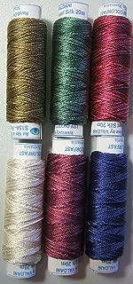 Valdani Luxury Pearls Summer Flowers Perle Silk Thread Size 12 Hand-dyed 6 Spool 12VAK6