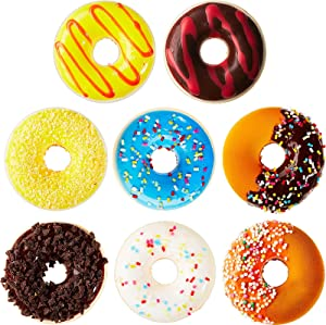 Chalyna 8 Pieces Fake Donuts Realistic Artificial Donuts Toy Fake Food Fake Cakes Desserts Donut Decorations Toys for Doughnut Party Favors Food Decoration Prop