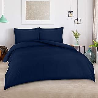 Utopia Bedding 3pc Duvet Cover Set with 2 Pillow Shams, (King Navy)