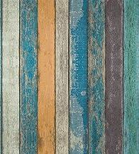 Rustic Plank Wood Peel and Stick Wallpaper - Wood Wallpaper – Backsplash Peel Stick, Prepasted Wall Paper or Adhesive Shel...