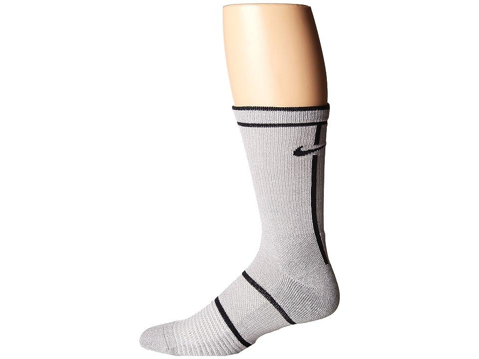 Nike NikeCourt Essentials Crew Tennis Socks (Vast Grey/Atmosphere Grey/Black) Crew Cut Socks Shoes