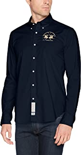 La Martina Man Shirt L/S Poplin Stretch Camisa Casual para