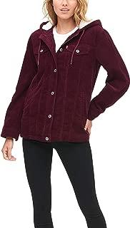 Levi's Women's The Mia Corduroy Oversized Hooded Sherpa...