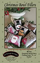 Christmas Bowl Fillers Applique Patterns by Bonnie Sullivan from All Through the Night #1716 Includes pre-printed background fabric 4