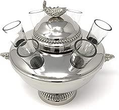 Silver Plated Caviar and Vodka Server + glasses