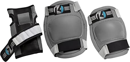 Kryptonics Starter Knee, Elbow, Wrist Pad Set, Grey