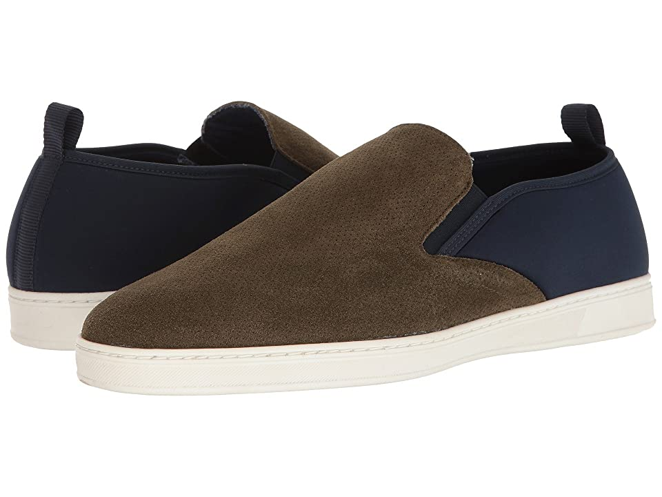 PARC City Boot Pier (Olive Punched Suede/Navy) Men