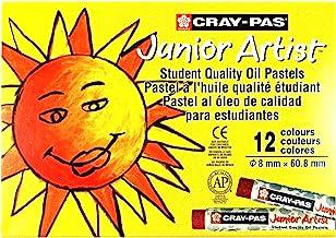 Regular Crayon Sakura Cray-Pas Junior Artist Oil Pastel Crayons 12 Pack, (16090)